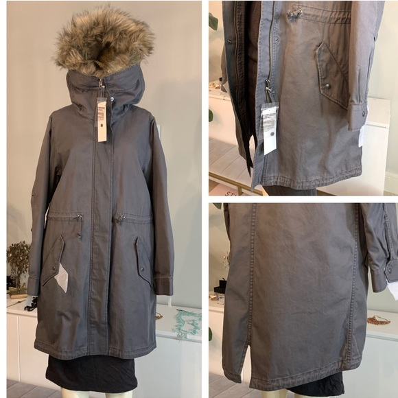 Uniqlo Jackets & Blazers - Uniqlo insulated military long coat fur small